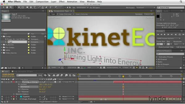 Moving in 3D space: After Effects CS6 Essential Training