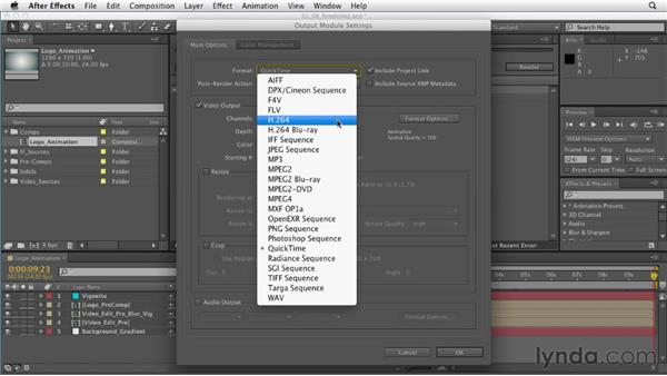 Rendering your first animation: After Effects CS6 Essential Training