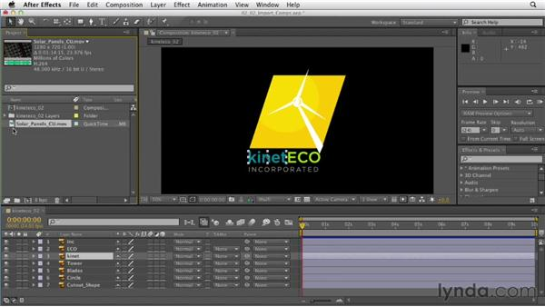 Importing footage and compositions: After Effects CS6 Essential Training