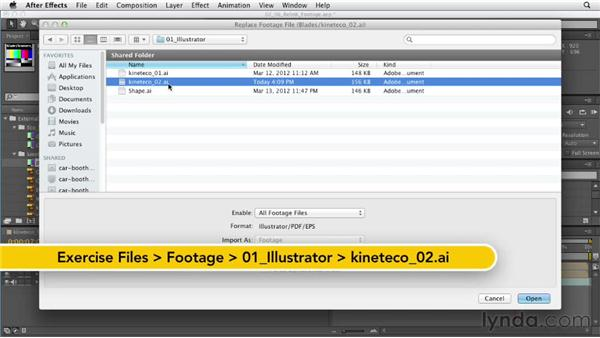 Relinking missing footage: After Effects CS6 Essential Training