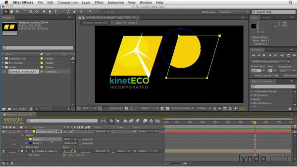 Crafting custom shapes and masks : After Effects CS6 Essential Training