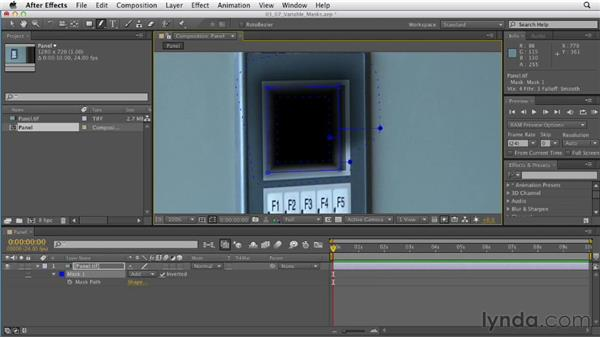 Creating variable-width feathered masks: After Effects CS6 Essential Training