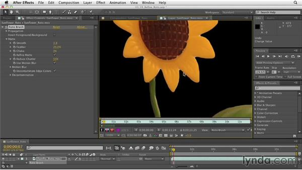 Refining with the Roto Brush: After Effects CS6 Essential Training