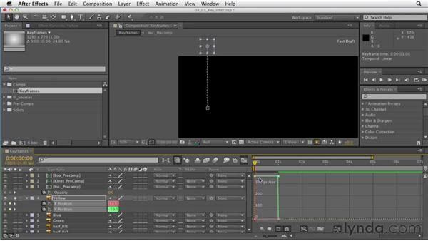 Interpolating keyframes: After Effects CS6 Essential Training