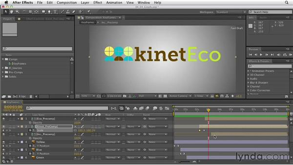 Adjusting keyframes in the Graph Editor: After Effects CS6 Essential Training
