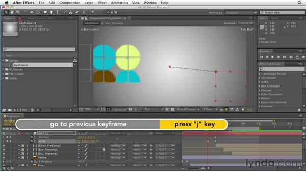 Controlling animation with parenting and the pick whip : After Effects CS6 Essential Training