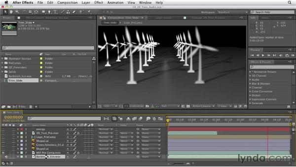 Timing to audio: After Effects CS6 Essential Training