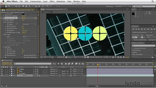 Layering multiple effects: After Effects CS6 Essential Training