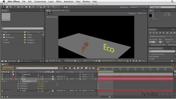 Working with 3D layers: After Effects CS6 Essential Training