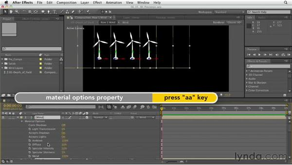 Using 3D precompositions: After Effects CS6 Essential Training