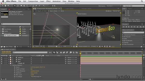 Adjusting depth of field: After Effects CS6 Essential Training
