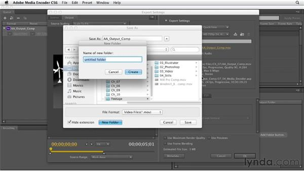 Rendering with Adobe Media Encoder: After Effects CS6 Essential Training