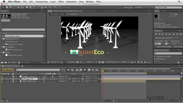 Archiving finished projects: After Effects CS6 Essential Training