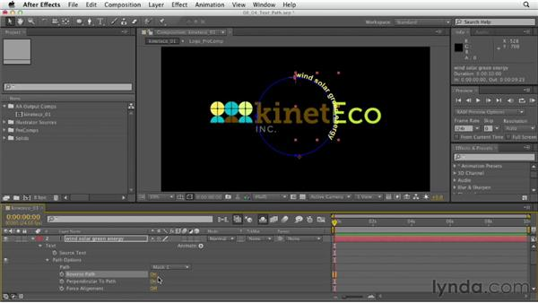 Adding and animating type on a path: After Effects CS6 Essential Training