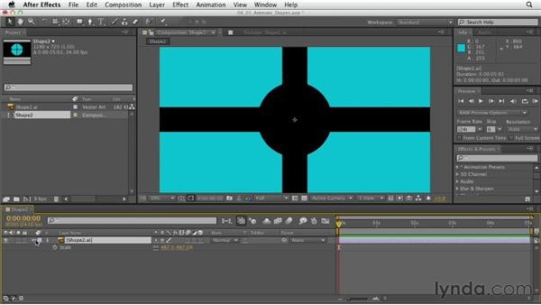Animating shape layers: After Effects CS6 Essential Training