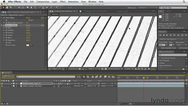 Creating stylized video: After Effects CS6 Essential Training
