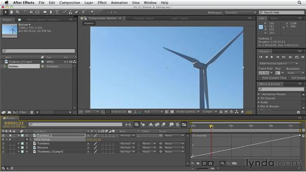 Retiming video footage: After Effects CS6 Essential Training