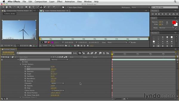 Retouching with the Rubber Stamp tool: After Effects CS6 Essential Training