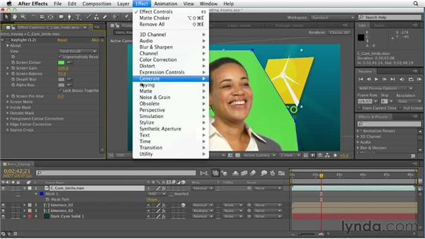 Understanding keying: After Effects CS6 Essential Training