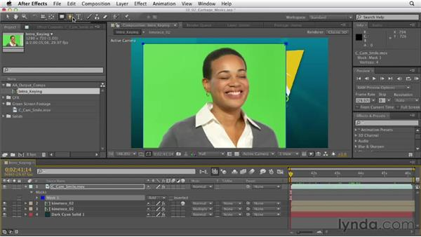 Creating a garbage mask: After Effects CS6 Essential Training
