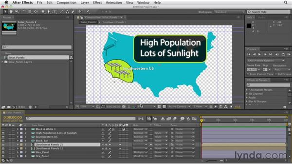 Importing Photoshop documents: After Effects CS6 Essential Training
