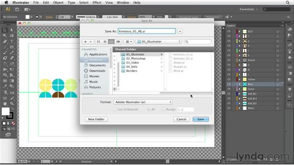 Importing Illustrator files: After Effects CS6 Essential Training