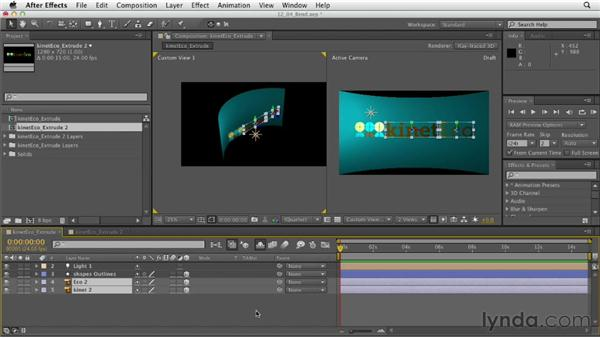 Bending layers: After Effects CS6 Essential Training