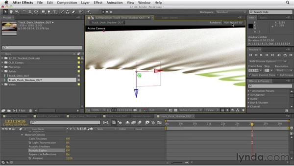 Creating render passes: After Effects CS6 Essential Training