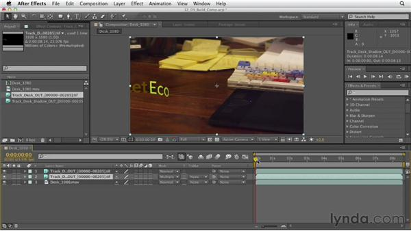 Building a final composite: After Effects CS6 Essential Training