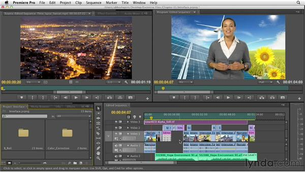 A tour of the interface: Premiere Pro CS6 Essential Training