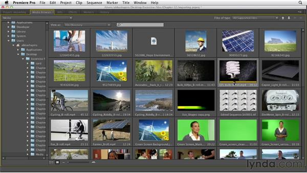 Importing files and folders: Premiere Pro CS6 Essential Training