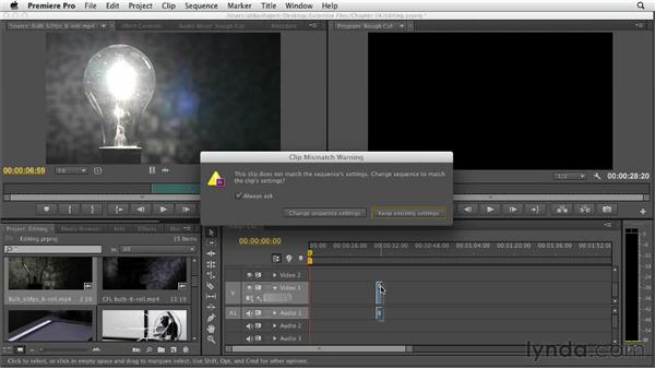 Editing clips into the Timeline: Premiere Pro CS6 Essential Training