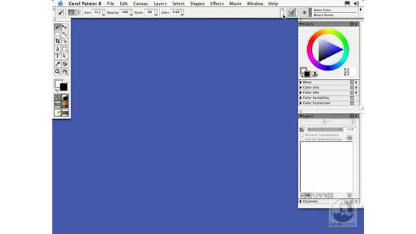 understanding the workspace: Getting Started with Corel Painter 8