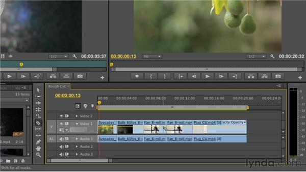 Splitting clips using the Razor tool: Premiere Pro CS6 Essential Training