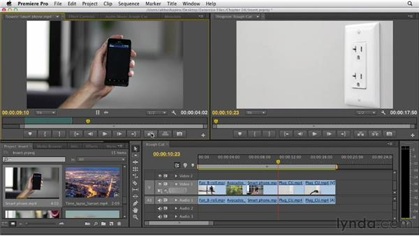 Performing an insert edit: Premiere Pro CS6 Essential Training