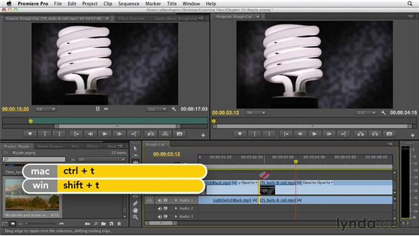 Performing roll and ripple edits: Premiere Pro CS6 Essential Training