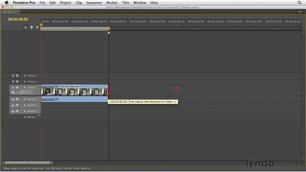 Taking control of your Timeline: Premiere Pro CS6 Essential Training