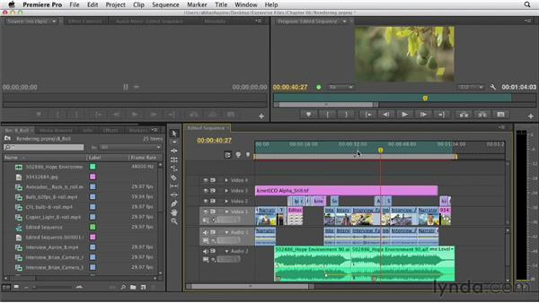 Rendering: Premiere Pro CS6 Essential Training