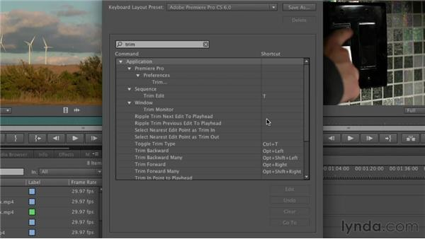Creating keyboard shortcuts: Premiere Pro CS6 Essential Training
