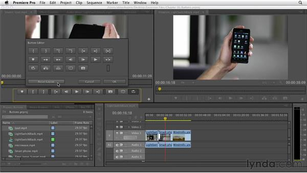 Creating buttons: Premiere Pro CS6 Essential Training