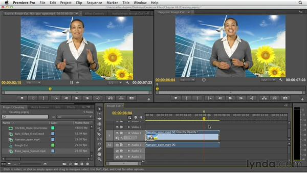 Inserting markers: Premiere Pro CS6 Essential Training