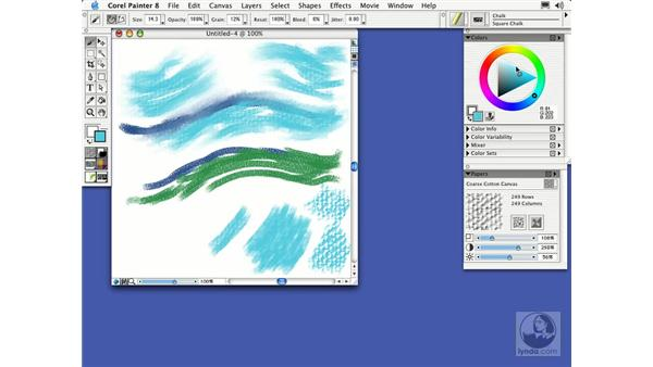paper textures: Getting Started with Corel Painter 8