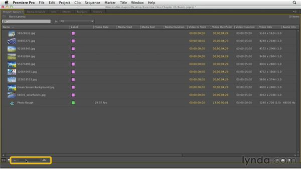 Working with stills: Premiere Pro CS6 Essential Training
