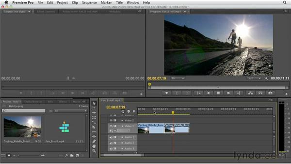 Creating and using freeze frames: Premiere Pro CS6 Essential Training