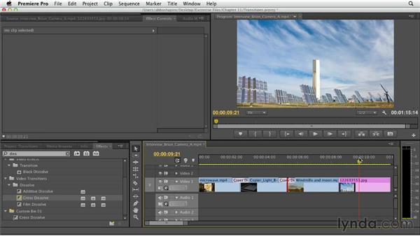 Using transitions: Premiere Pro CS6 Essential Training