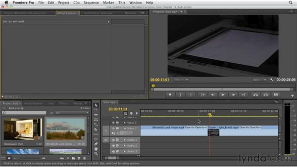 Setting default transitions and applying multiple transitions: Premiere Pro CS6 Essential Training