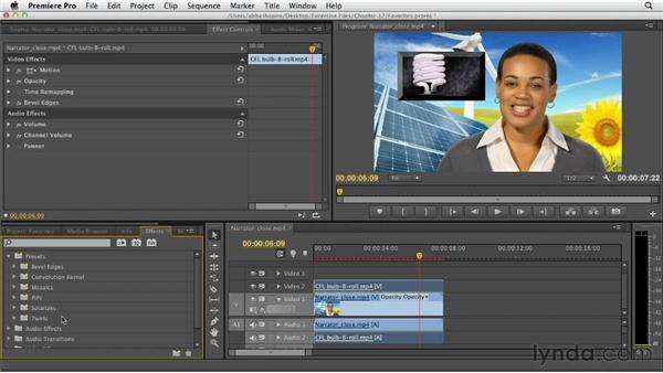Saving favorites: Premiere Pro CS6 Essential Training