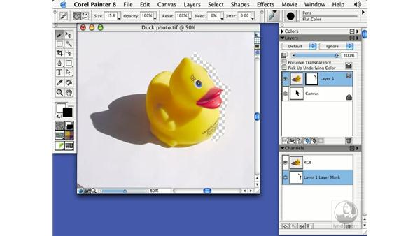 layer masks: Getting Started with Corel Painter 8