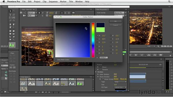 Creating static titles: Premiere Pro CS6 Essential Training