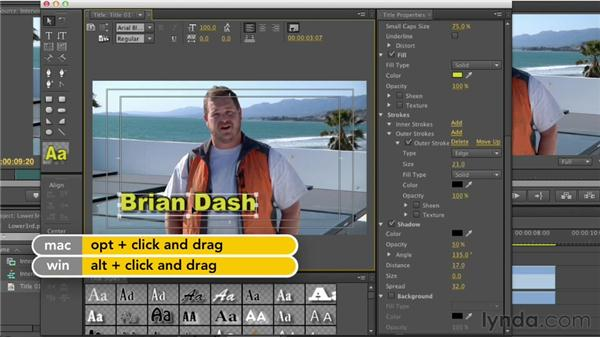 Creating lower thirds: Premiere Pro CS6 Essential Training